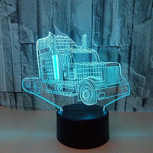 baby Q LED 3D Illusion Lampe, Voyants visuels colorés de Contact de Camion, Lampe Acrylique d'ambiance de Cadeau, lumières actionnées par USB