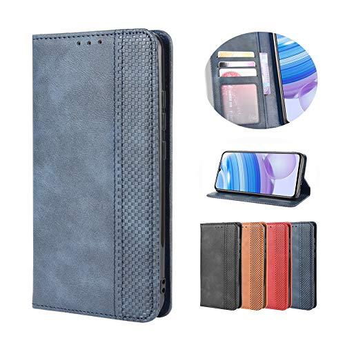 Lederhülle für Nokia 5.3 Hülle, Flip Hülle Schutzhülle Handy mit Kartenfach Stand & Magnet Funktion als Brieftasche, Tasche Cover Etui Handyhülle für Nokia 5.3, Blau