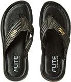 FLITE Men's Black Flip Flops Thong Sandals-7 UK/India (40.67 EU) (PUG501G)