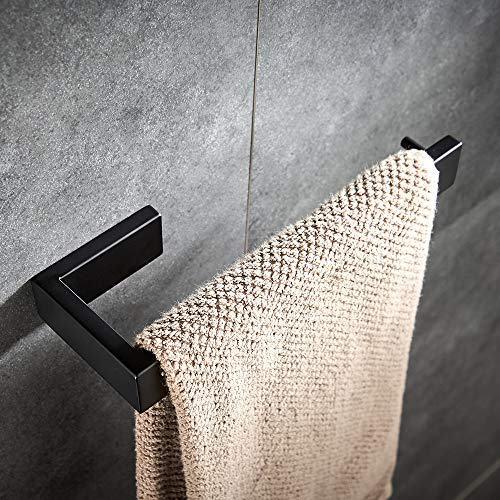 YJ YANJUN - Toallero de Pared de Acero Inoxidable para baño, Color Negro Mate