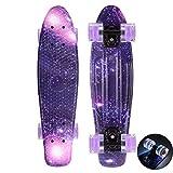 DUANYU Skateboard Completo Mini Cruiser Skates Penny Board per Bambini Giovani Adulti Principianti Professionisti (22 Pollici, 4 Ruote in PU, Tavolo in Plastica Rinforzata, Cuscinetto ABEC-11)