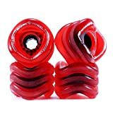 Shark Wheel Sidewinder 70mm 78A All-Terrain Skateboard/Longboard Wheels, Red