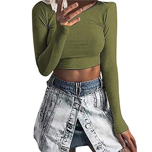 YANFANG Moda Mujer Casual Estampado A Cuadros De Manga Larga con Cuello En V Camisa Casa Blusa Topsmujeres Tops TúNica Bloques Color Rayas Punto Gofrado Sudadera Capucha