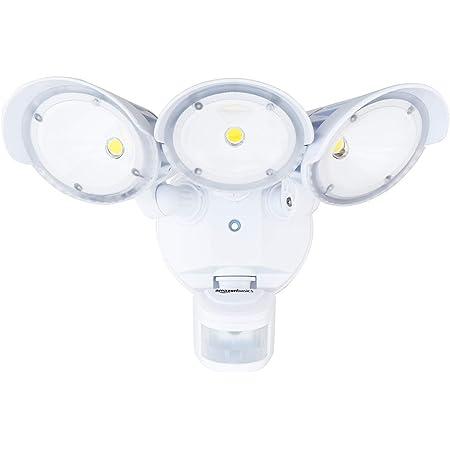 Amazon Basics 40W Waterproof LED Outdoor Motion Sensor Security Light with 3 Adjustable Metal Heads - 5000K Daylight, 3600 Lumen, ETL Certified