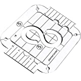 Quilting Template with Quilting Frame for Machine Quilting Stipple Quilting Ruler Template 3.0 mm Thick Transparent Acrylic Free-Motion Template for Quilting on Domestic Machine (Pleated Border Style)
