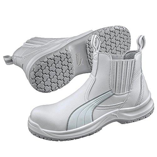 Puma Safety Shoes S2 CLEAR CHELSEA MID, Puma 630380-100 Unisex-Erwachsene Sicherheitsschuhe, Weiß (weiß 100), EU 45