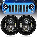 Aukmak 7inch Round LED Headlights For Jeep Wrangler JK TJ LJ CJ 1997 to 2017 DOT Approved Extremely Bright