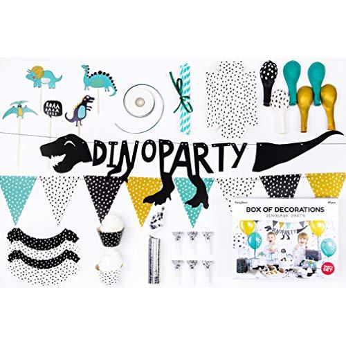 Geburtstag Set Dino-Party Kindergeburtstag Geburtstagsparty Dinosaurier Deko 39 Teile