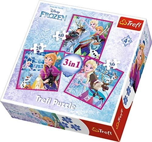 Trefl - Puzzle 3 en 1 modelo Frozen 20-36-50 piezas, 34832, multicolor , color/modelo surtido