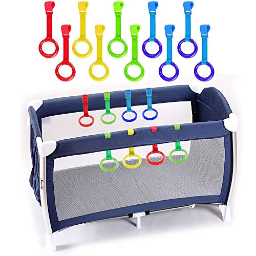 Rovtop 10 Pezzi Anelli Box Bambini, Anelli per Culla e Lettino, Aiuta il Bambino a Imparare a Stare in Piedi (Taglia grande)