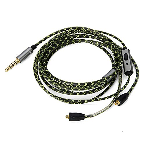 OKCSC EXM3twM Headphone Replacement Cord,5N OFC Earphone Upgrade Cable,MMCX Headset Conversion Cable for SHURE SE215 SE315 SE425 (MMCX,with mic)