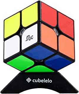 Cubelelo YJ MGC 2x2 Black (Magnetic) Speed Cube Puzzle 2x2x2 Magic Cube