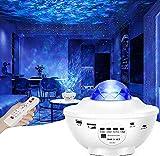 LED Sternenhimmel Projektor Lampe Nachtlicht Galaxy Projektor, Eingebautem Bluetooth Musiklautsprecher für Party Weihnachten Ostern & Kinder Erwachsene Zimmer Dekoration Weiß