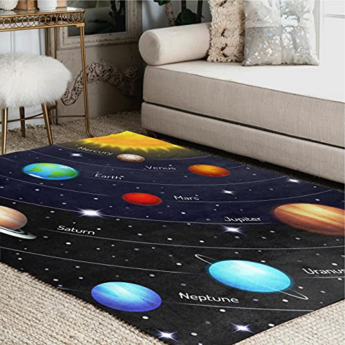 ALAZA Outer Space Solar System Area Rug Rugs for Living Room Bedroom 7'x5'
