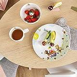 Villeroy & Boch Hungry as a Bear Kinder-Tafelset mit Besteck, 7 tlg., Premium Porzellan, Edelstahl 18/10, spülmaschinengeeignet, weiß/bunt - 3