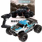 FunTomia Maximum RC Monster Truck - Coche teledirigido 4WD Thunder Car 36 km/h, piezas de repuesto (1 camión Monster Truck / Pick-up azul)