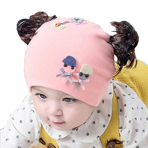 Gyratedream Kleinkind Kinder Baby Mädchen niedlichen Cartoon Perücke Design Herbst warme Mütze Cap Headwear