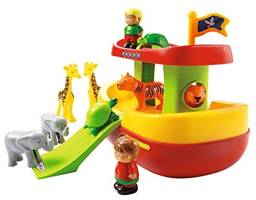 Jouets Ecoiffier – 3041 - L'arche de Noé Abrick – Jeu de construction pour enfants – Dès 18 mois – Fabriqué en France