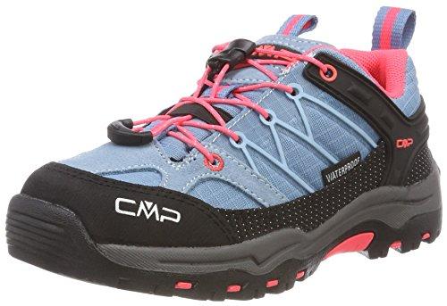 CMP – F.lli Campagnolo Unisex-Erwachsene Rigel Low Trekking- & Wanderhalbschuhe, Türkis (Clorophilla-Red Fluo 89bd), 34 EU