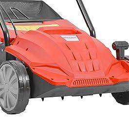 Hecht 1420 2en1 Scarificateur et ventilateur électrique gazon 1500 W Bac 35 l Largeur du travail 32 cm Hauteur -12 à +4 mm
