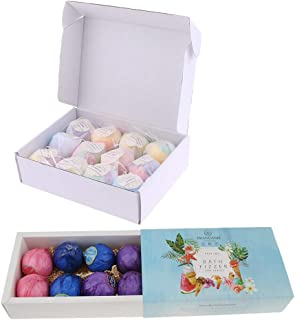 D DOLITY Pack of 20PCS, Bath Balls Fizzies Gift Set Ideas - Vegan Gifts For Mothers, Wife - Spa Fizzies - Add to Bath Bubbles, Bath Beads, Bath Pearls & Flakes