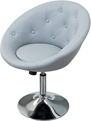 Marvelous Amazon Com Round Swivel Accent Lounge Chair With Tufted Machost Co Dining Chair Design Ideas Machostcouk