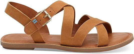 TOMS Women's Sicily Ankle Strap Leather Sandal