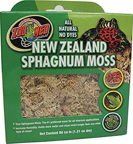Zoo Med CF3-NZE New Zealand Sphagnum Moss, 1,31 l natuurlijke turfmos-substraat voor vochtregulering in het terrarium