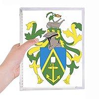 ピトケアン諸島オセアニア国章 硬質プラスチックルーズリーフノートノート