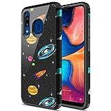 Schutzhülle für Samsung Galaxy A21, weicher Hybird, Fallschutz, schlank, doppellagig, stoßfest, bunt, grafisch, für Samsung Galaxy A21 (Weltraum)