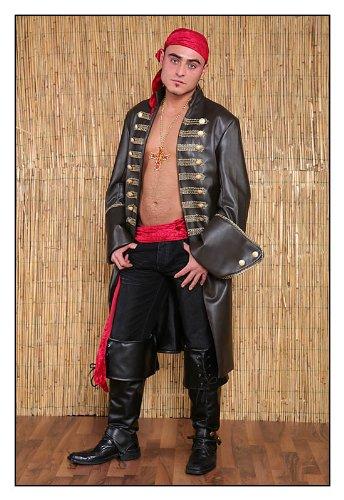 TH-MP Piraten Kostüm für Herren Gr. L Gehrock Pirat Kapitän