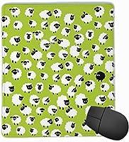 マウスパッド ヒツジ ゲーミング オフィス最適 高級感 おしゃれ 防水 耐久性が良い 滑り止めゴム底 ゲーミングなど適用 マウスの精密度を上がる( 22×18×0.3cm )