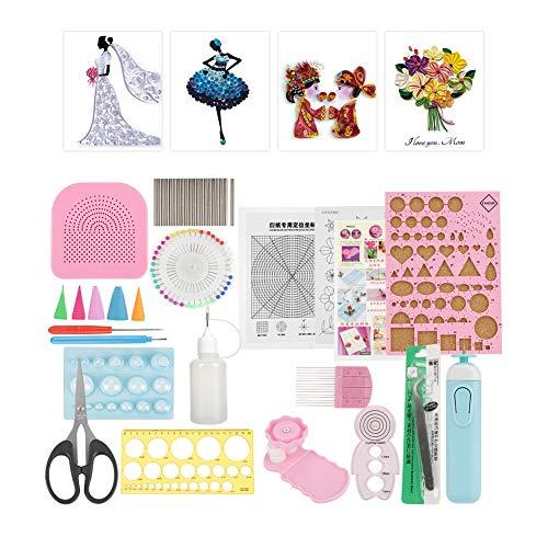 24 Stücke Quilling Werkzeuge Papier Quilling Kit Werkzeuge Zubehör Set Kunst Handwerk Dekoration DIY Design Zeichnung Handwerk Werkzeug