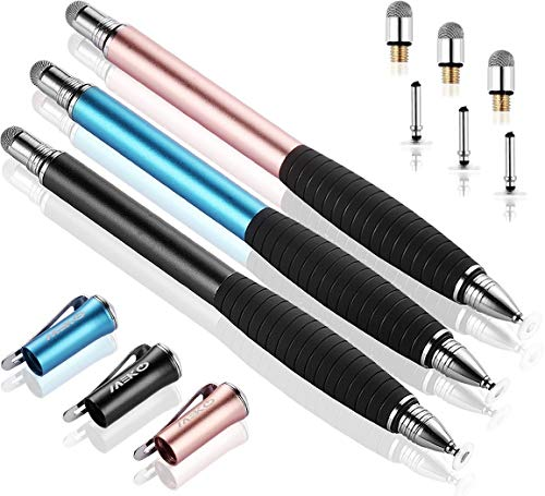 Stylish High Precision Touch Screen Fiber Tip Pen Universal Disc Tip Stylus