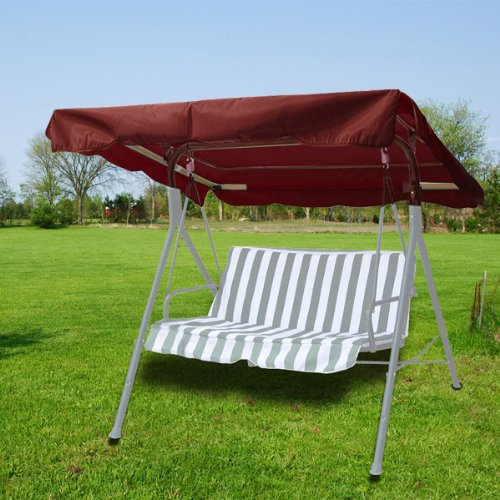 New Deluxe Outdoor Swing Canopy Replacement Porch Top Cover Seat Patio Nutmeg Brown (77'x43')