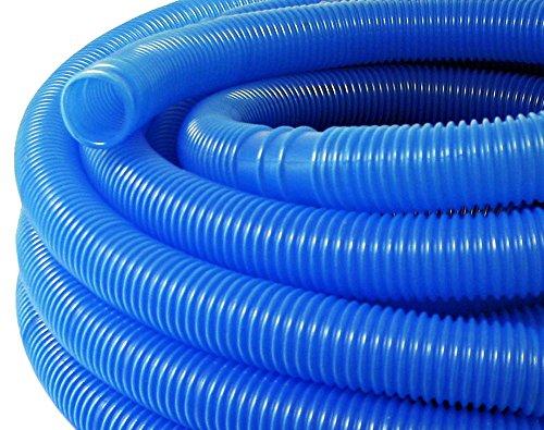 WilTec Manguera Piscina Azul con Manguitos 38mm 15m 190g/m T