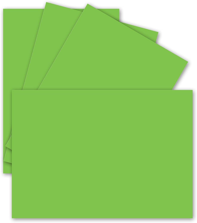 Einzel-Karten Post-Karten DIN A6-10,5 x 14,8 cm, stabile 240 gr Ton-Papier Qualität, Bastel-Bogen A6, Hell-Grün - 400x - für Drucker geeignet B07N2X8236     Elegant und feierlich