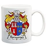 Hernandez Coat of Arms/Hernandez Family Crest 11 Oz Ceramic Coffee/Cocoa Mug by Carpe Diem Designs, Made in the U.S.A.