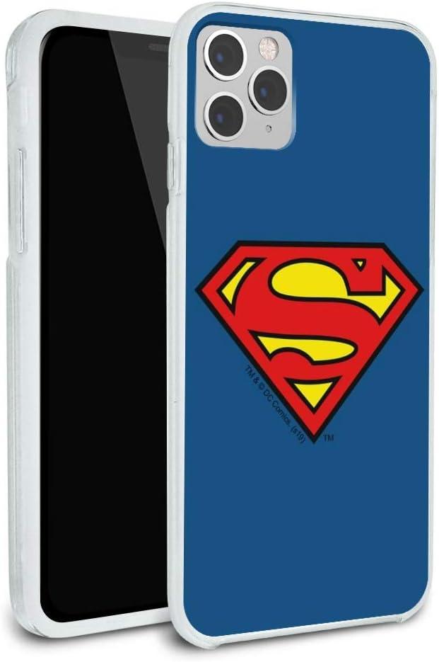 Superman Classic S Shield Logo Protective Slim Fit Hybrid Rubber Bumper Case Fits Apple iPhone 8, 8 Plus, X, 11, 11 Pro,11 Pro Max