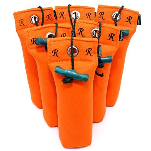 Standard Dummy 500g | Aktion 5 + 1 GRATIS | Robustes Material | Mit Wurfgriff | Schwimmfähig | Ideal für das Apportiertraining (orange)