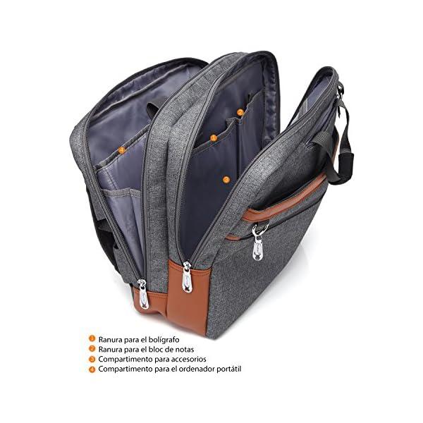 51 n CPbnXL. SS600  - CoolBELL Mochila Convertible en Bolso de Hombro para Guardar Ordenadores portátiles. Maletín de Negocios Mochila de Viaje para Guardar Ordenadores portátiles de 17,3 Pulgadas (Gris)