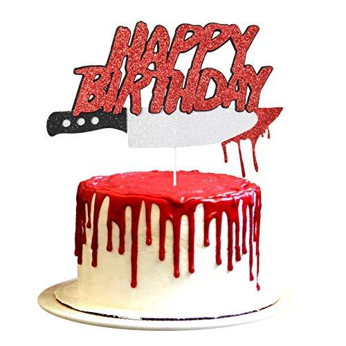 Halloween Horror Birthday Party Cake Topper, Friday the 13th Birthday Party Cake Topper, Have a Killer Birthday Cake Topper Party Decorations, Halloween Zombie Vampire Party Decorations Supplies
