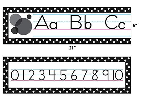 Teacher Created Resources Black Polka Dots Traditional Printing Mini Bulletin Board (5788) Photo #2