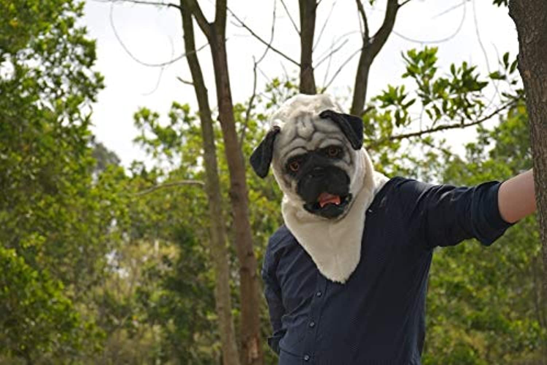 venta caliente AIYASHIWEI-MASKS MásCocheas de Animales para Fiestas Varias Varias Varias Pug Fur Halloween MásCochea Boca moviendo Animal Party Mask (Color   Light amarillo, Talla   25  25)  minoristas en línea