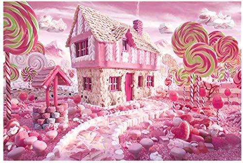 YYTTLL Rompecabezas 1000 Piezas Grandes Rompecabezas para Adultos - Hasde Rompecabezas para Adultos Difícil Candy House Puzzle Estilo Paisaje Regalos