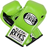 Cleto Reyes Boxing Training Gloves With laces and attached thumb - Citrus Green - 12-Ounce