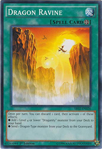 Yu-Gi-Oh! - Dragon Ravine (SR02-EN026) - Structure Deck: Rise of the True Dragons - Edition - Common by Yu-Gi-Oh!