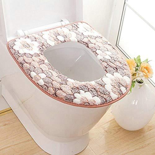Zachte badkamer Toiletbril Closestool Wasbaar Warmer Mat Pad Kussen verwarmde toiletbril, chocolade