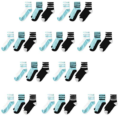 Hurley boys 6-pack 6 Pack Active Everyday Knit Ankle Socks, Green, 12-24 Months US