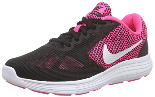 Nike Damen Revolution 3 Laufschuhe, Schwarz (Hyper Pink/White-Black), 36.5 EU